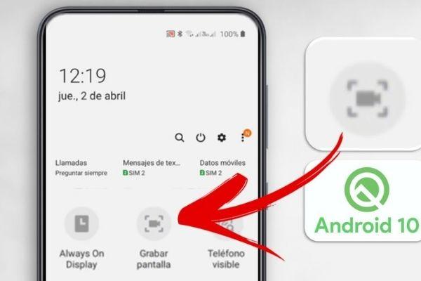android grabar pantalla sin aplicaciones